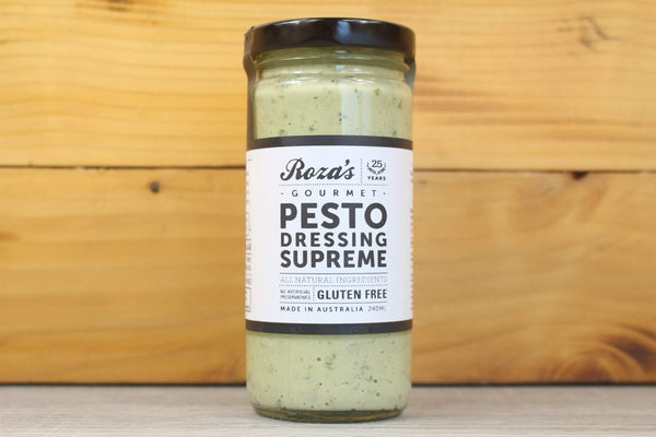 Roza's Gourmet Pesto Dressing Supreme 240ml Deli > Fresh Sauces, Condiments & Dressings