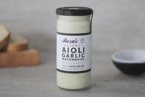 Roza's Gourmet Sauces Aioli Garlic Mayonnaise 240ml* Deli > Fresh Sauces, Condiments & Dressings