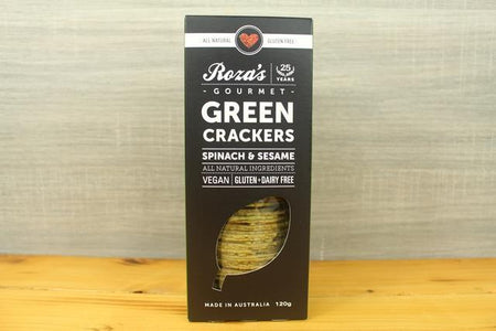 Roza's Gourmet Sauces Green Crackers Pantry > Biscuits, Crackers & Crispbreads