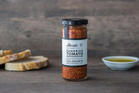 Roza's Gourmet Sauces Sundried Tomato Wholegrain Mustard 240ml* Deli > Fresh Sauces, Condiments & Dressings