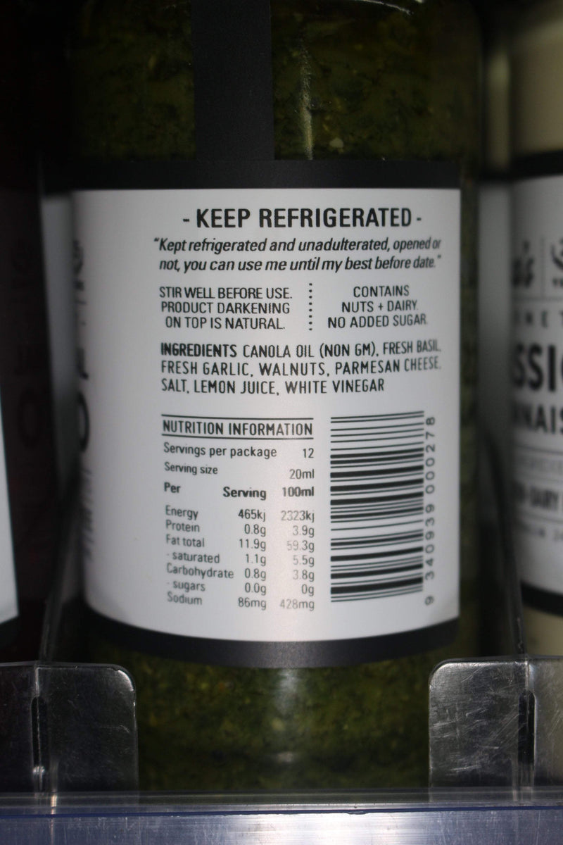 Roza's Gourmet Sauces Traditional Pesto 240ml* Deli > Fresh Sauces, Condiments & Dressings