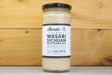Roza's Gourmet Wasabi Sichuan Mayonnaise 240ml Deli > Fresh Sauces, Condiments & Dressings
