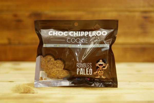 Rumbles Paleo Choc Chipperoo Cookie 60g Pantry > Cookies, Chips & Snacks
