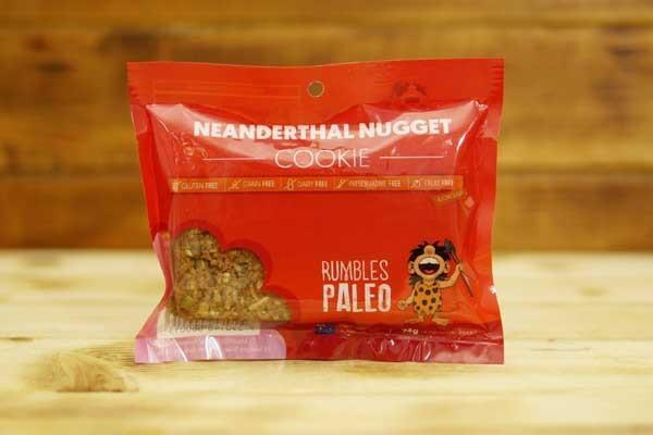 Rumbles Paleo Neanderthal Nugget Cookie 74g Pantry > Cookies, Chips & Snacks
