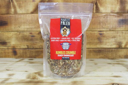 Rumbles Paleo Rumbles Crumble Cinnamon Blast 400g Pantry > Granola, Cereal, Oats & Bars