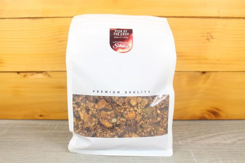 Santos Cacao Orange Maple Pecan & Figs Clusters 500g Pantry > Granola, Cereal, Oats & Bars