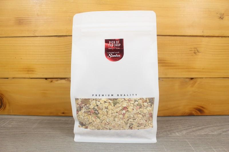 Santos Creamy Oats with Strawberry, Pear & Almond 500g Pantry > Granola, Cereal, Oats & Bars