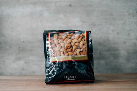 Santos Unsalted Cashews 1kg Pantry > Dried Fruit & Nuts
