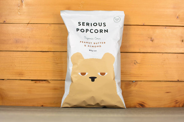 Serious Popcorn Peanut Butter & Almond Popcorn 80g Pantry > Cookies, Biscuits & Sweet Snacks