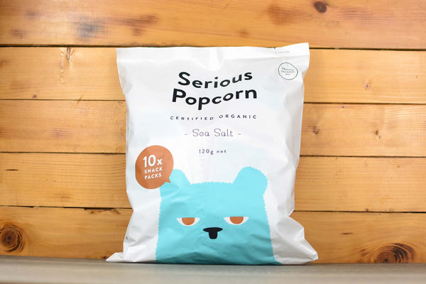 Serious Popcorn Sea Salt Multipack (10x12g) Pantry > Chips & Savoury Snacks