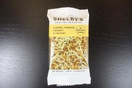 Shelby Almond Turmeric Coconut & Yoghurt Bar 40g Pantry > Granola, Cereal, Oats & Bars