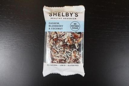 Shelby Cashew Blueberry & Coconut Bar 40g Pantry > Granola, Cereal, Oats & Bars