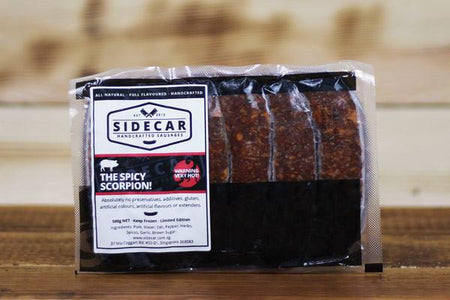 Sidecar Sausages The Scorpion Sausage 500g Meat > Sausage