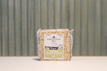 Singletons & Co Organic Double Gloucester Cheese 200g Dairy & Eggs > Cheese