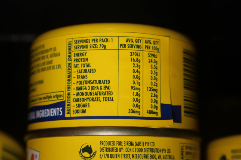 Sirena Tuna Tuna In Oil Lite 95g Pantry > Canned Goods
