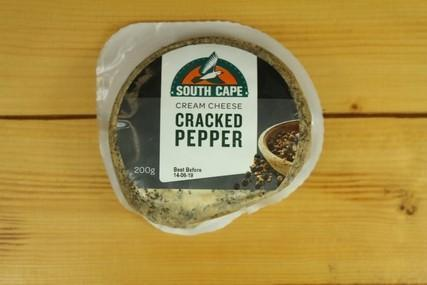 South Cape South Cape Crkd Pepper Cream Cheese 200g Dairy & Eggs > Cheese