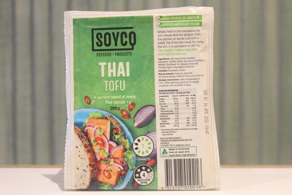 Soyco Thai Tofu 200g Dairy & Eggs > Dairy Alternatives