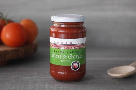 Spiral Organic Basil and Garlic Pasta Sauce 375g Pantry > Pasta, Sauces & Noodles