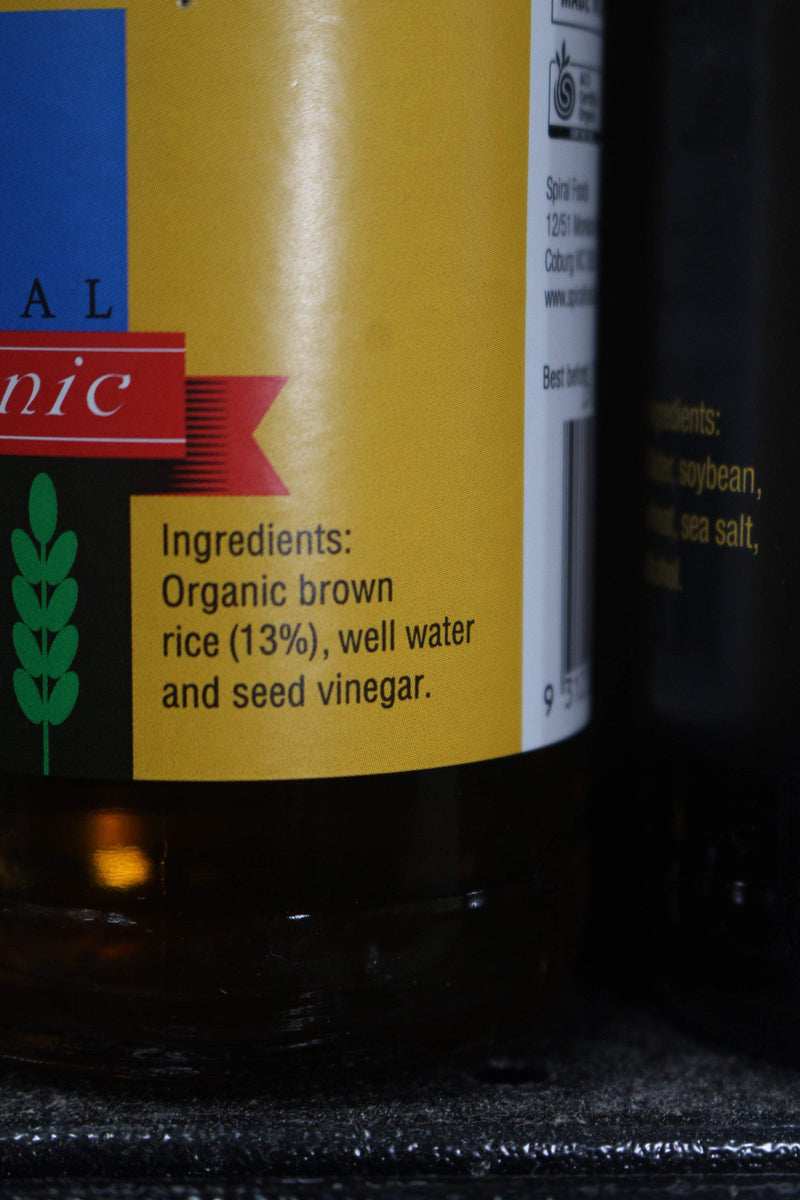 Spiral Organic Brown Rice Vinegar 250ml Pantry > Condiments