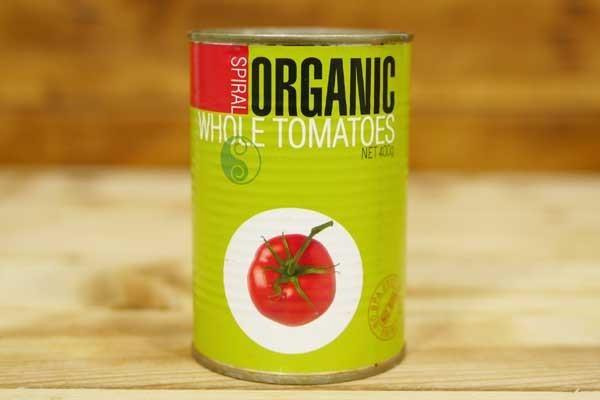 Spiral Organic Whole Tomatoes Peeled 400g Pantry > Canned Goods