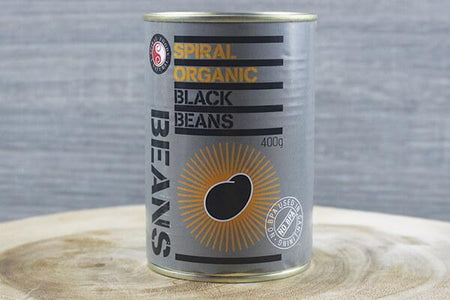 Spiral SP Black Beans Org 400g Pantry > Canned Goods