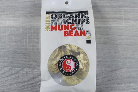 Spiral SP Chips Mungbean ORG 50g Pantry > Cookies, Chips & Snacks