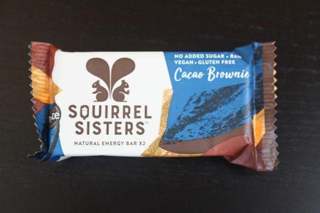 Squirrel Sisters Cacao Brownie Raw Snack Bar 20g Pantry > Cookies, Chips & Snacks