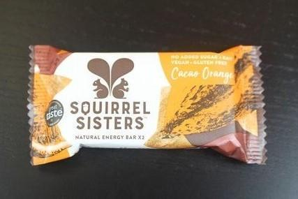 Squirrel Sisters Cacao Orange Raw Snack Bar 20g Pantry > Cookies, Chips & Snacks