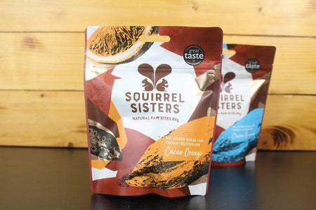 Squirrel Sisters Cacao Orange Share Bag 80g Pantry > Cookies, Chips & Snacks