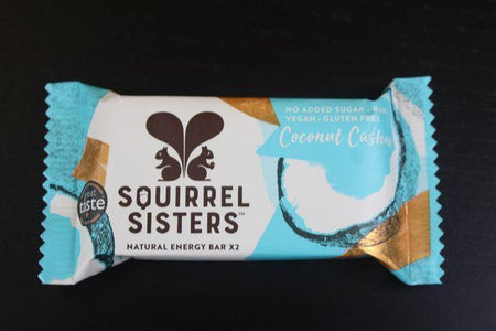Squirrel Sisters Coconut Cashew Raw Snack Bar 20g Pantry > Cookies, Chips & Snacks