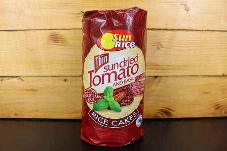 Sunrice Sundried Tomato & Basil Thin Rice Cake 195g Pantry > Biscuits, Crackers & Crispbreads