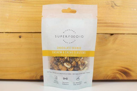 Superfoodio Choc Orange Cashew & Cacao Clusters 35g Pantry > Dried Fruit & Nuts