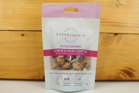 Superfoodio Salted Caramel & Cacao Cluster 35g Pantry > Dried Fruit & Nuts