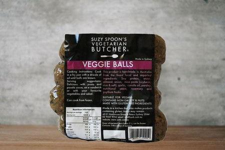 Suzy Spoon's Vegetarian Butcher Italian Veggie Balls 400g Freezer > Ready-Made Meals