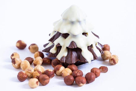 Sweetness The Patisserie 3D Hazelnut Solid Chocolate Christmas Tree 185g Pantry > Confectionery