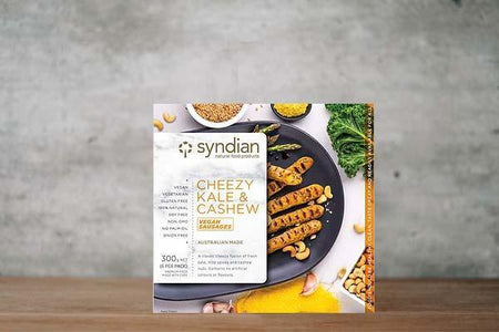 Syndian Cheezy Kale & Cashew Sausages 300g Freezer > Meat Alternatives