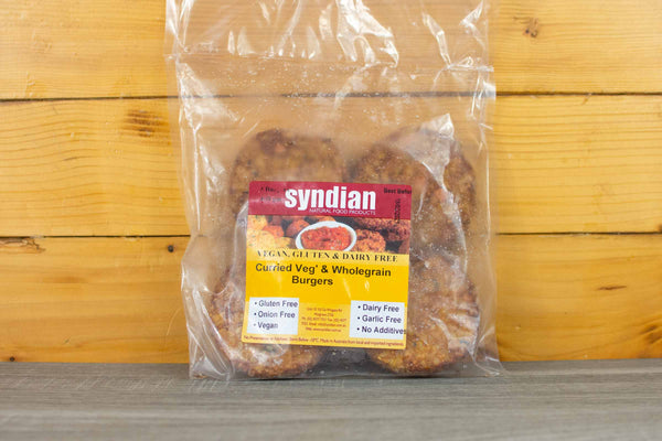 Syndian Curried Wholegrain Burgers 400g Freezer > Meat Alternatives