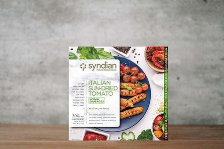 Syndian Italian Sundried Tomato Sausages 300g Freezer > Meat Alternatives
