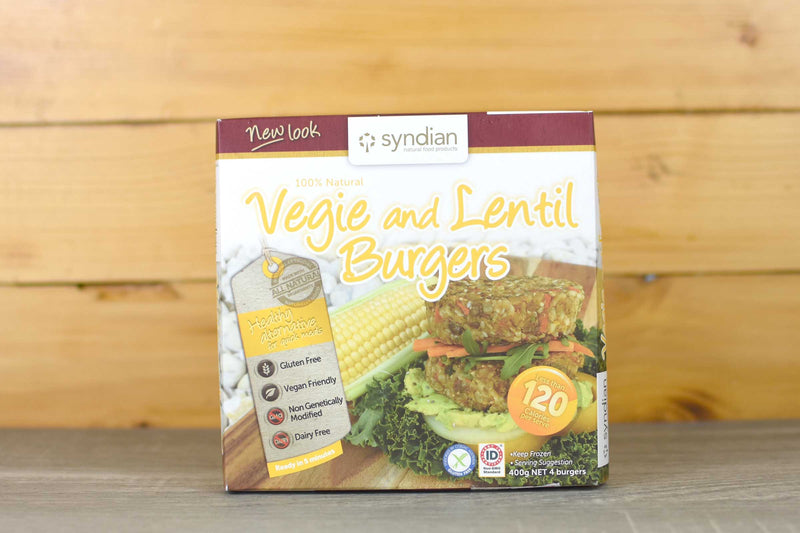 Syndian Natural Food Products Lighter Veg & Lentil 4x100g Freezer > Meat Alternatives