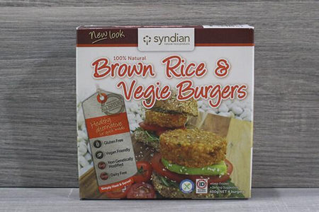 Syndian Original Brown Rice & Veg Burgers 4x100g Freezer > Meat Alternatives