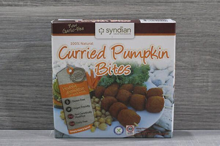 Syndian Original Curried Pumpkin Bites 250g Freezer > Meat Alternatives