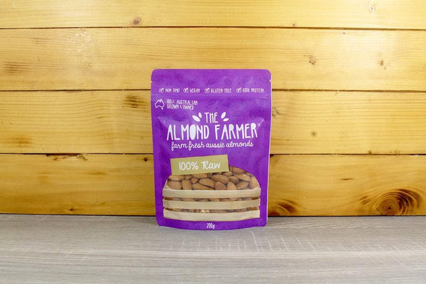 The Almond Farmer Almonds 100% Raw 200g Pantry > Dried Fruit & Nuts