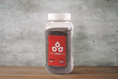 The Chia Co. Chia Seeds Black 1kg Pantry > Grains, Rice & Beans