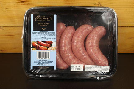 The Gourmet Pack Pork & Honey Sausage 5's (500g) Meat > Sausage