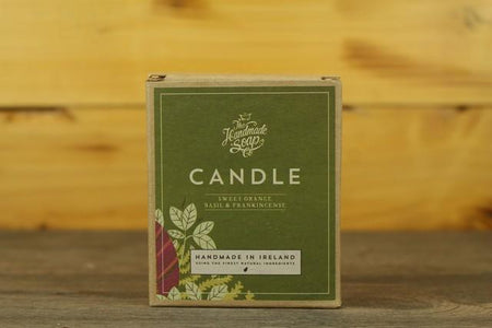 The Hand Made Soap Candle Sweet Orange, Basil and Frankincense Household > Air Fresheners & Candles
