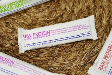 The Health Food Guys Raw Protein Blueberry Bar 55g Pantry > Granola, Cereal, Oats & Bars