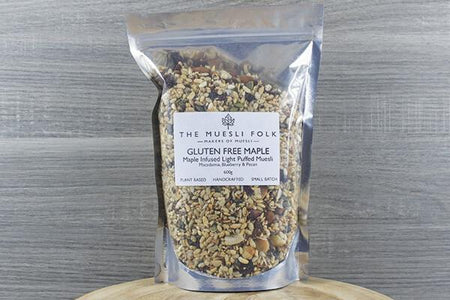 The Muesli Folk Gluten Free Maple 300g Pantry > Granola, Cereal, Oats & Bars