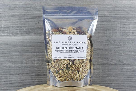 The Muesli Folk Gluten Free Maple 600g Pantry > Granola, Cereal, Oats & Bars