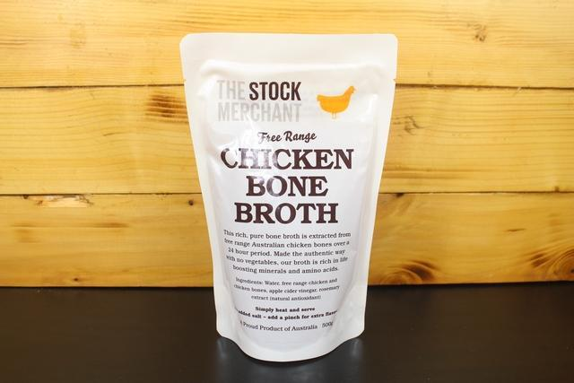 The Stock Merchant Free Range Chicken Bone Broth 500g Pantry > Broths, Soups & Stocks
