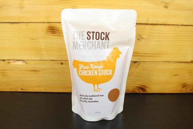 The Stock Merchant Free Range Chicken Stock 500g Pantry > Broths, Soups & Stocks